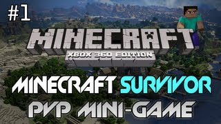 "Minecraft: Xbox 360 - ""Survivor"" Part 1 - Killing A Friend! (PvP Mini-Game)"