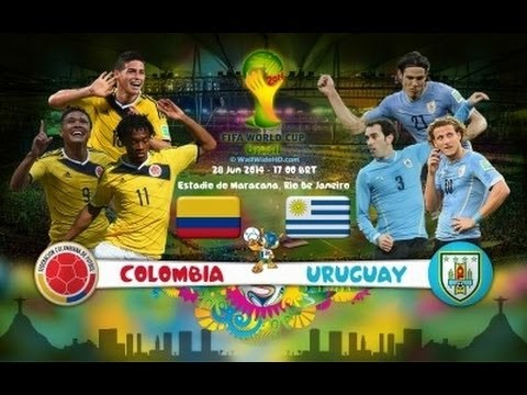 Highlights Colombia  Uruguay 2-0 OTTAVI WORLD CUP 2014