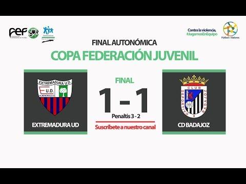 Extremadura UD - CD Badajoz | Final Copa Federación Juvenil Fútbol 11 2017/2018