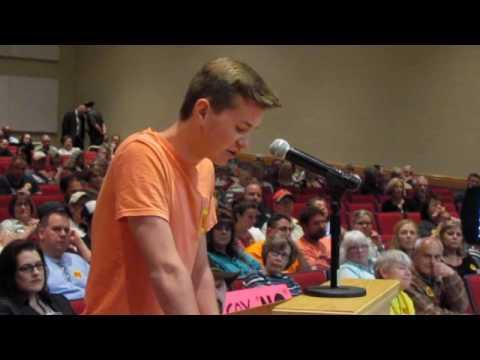 Burrillville High School Student Opposes Power Plant