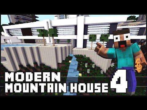 Minecraft Modern Mountain House 4