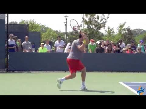 Ernests Gulbis Slow Motion Forehand & Backhand 240FPS 1080p