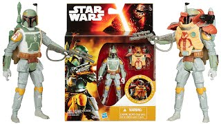 Star Wars The Force Awakens Boba Fett ESB Armour Up Figure Pack Toy Review Unboxing