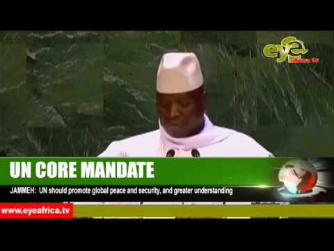 Gambian President Yahya AJJ Jammeh addressing the United Nation 25th Sept  2014