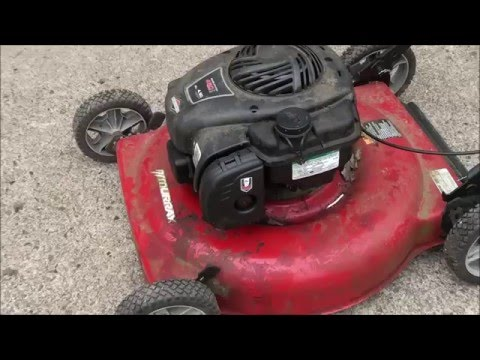 Murray LAWNMOWER Won't start? Briggs and Stratton E-Series 4.50 HP: CABURETOR REMOVAL and CLEANING