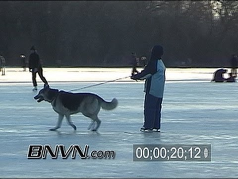 1/11/2003 Video of people ice skating around Lake Of The Isle, Minneapolis, MN