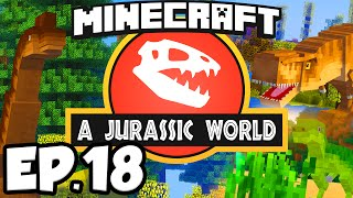 Jurassic World: Minecraft Modded Survival Ep.18 - DINOSAUR GROWTH SERUM!!! (Rexxit Modpack)