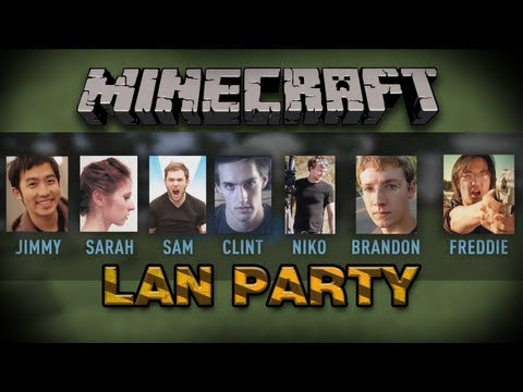 Minecraft with freddiew and corridordigital Episode 1 on LAN Party - NODE