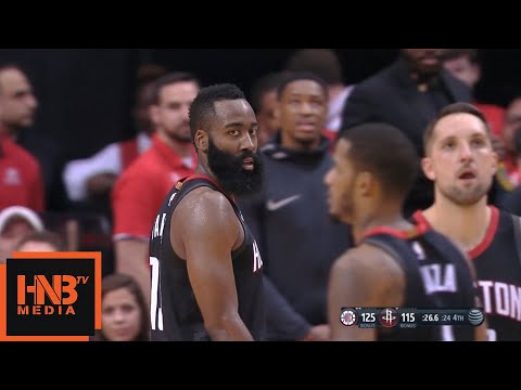 James Harden Ejected From The Game / Rockets vs LA Clippers