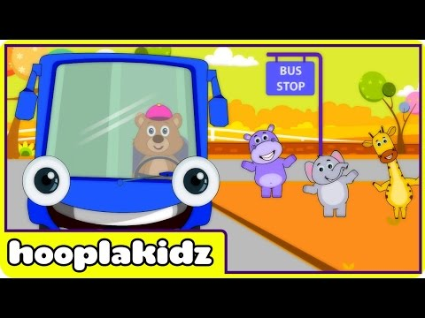 Wheels On The Bus | Hd Version 3 | Nursery Rhymes For Toddlers And Babies From Hooplakidz video