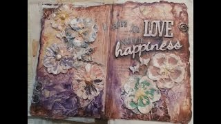 Art journal challenge using an Altered old Book