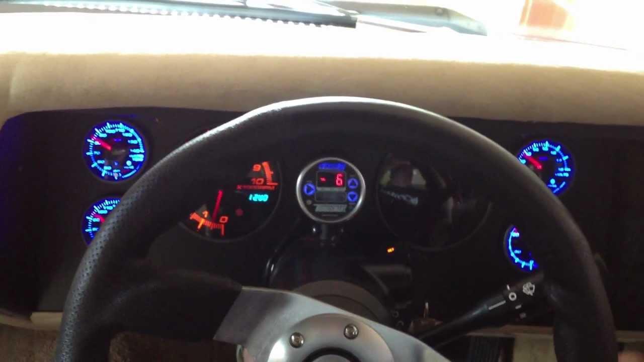 Ranga Hq Ls1 Turbo Ute Custom Dash Gauge Start Up Youtube