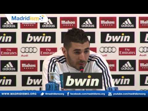 Karim Benzema rueda de Prensa, previa Real Madrid - Barcelona (Press Conference)