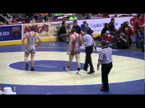 Logan Stout (Brookville) vs. Brock Linebaugh (Bermudian Springs) 195 lbs. PIAA Preliminaries 2012