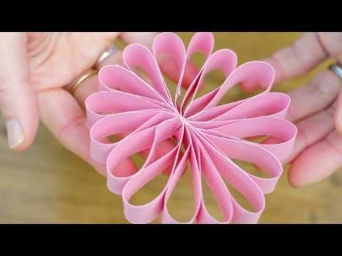 פרח מרצועות נייר