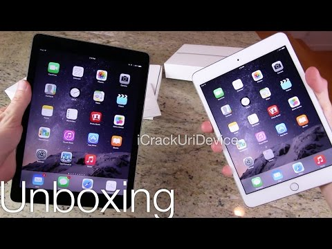 New iPad Air 2 Vs Mini 3 - Unboxing iPads: Comparison and Review