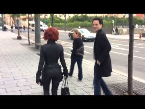 Scarlett Johansson en Black Widow à Montréal