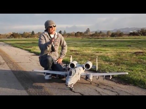 A-10 WARTHOG! Monster TWIN 70MM EDF JET FLIGHT Review!  In HD!