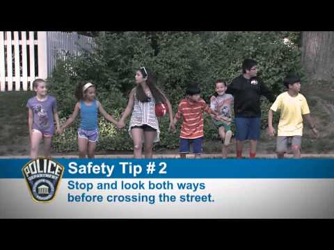 Police Safety Tips Outdoor Play