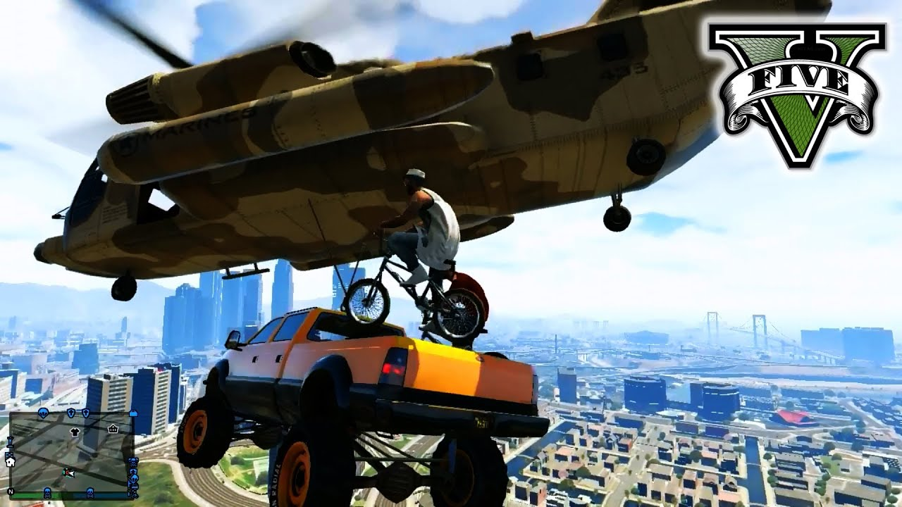 Bike Tricks Gta 5 STUNTs amp JUMPs GTA Hanging