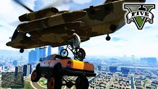 GTA 5 Making Stunt Movie!!! - STUNTs & JUMPs GTA 5 -  Hanging With the Crew Grand Theft Auto 5