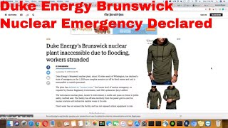 Duke Energy's Brunswick NC Declares Nuclear Emergency