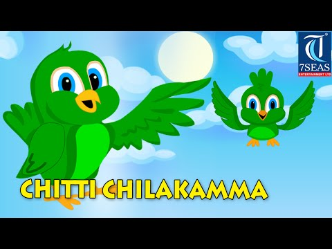 Learn Telugu Rhyme Chitti Chilakamma   2d Parrots Animation Video For Kids video
