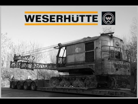 Weserhütte W12 - Greifer verladen und transportfertig machen!