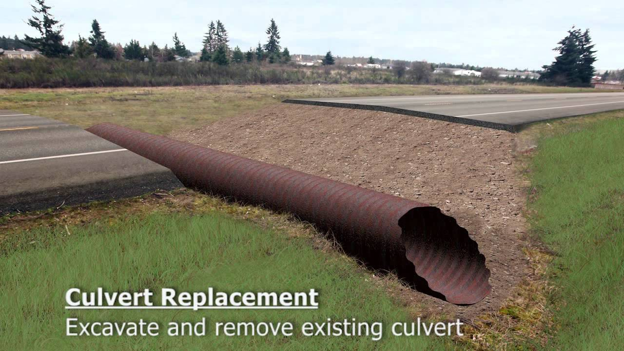 Us 2 culvert replacement youtube for Mineral wool pipe insulation weight per foot