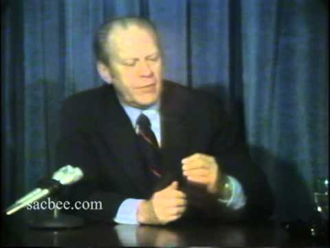 President Gerald Ford testifies about Lynette