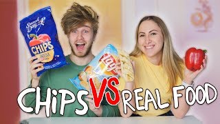 CHIPS vs. REAL FOOD CHALLENGE! 😱