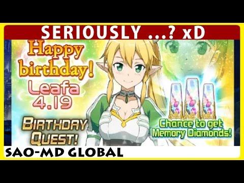 Happy Birthday Leafa !? More Free Diamonds To Farm (SAO Memory Defrag)