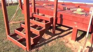 Pool Deck Building: Railing Posts & Stair Framing
