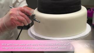 How to Create a Graduation Tiered Chalkboard Cake