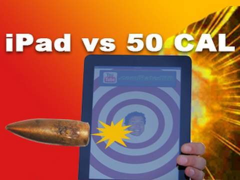 iPad vs .50 Cal Sniper Rifle