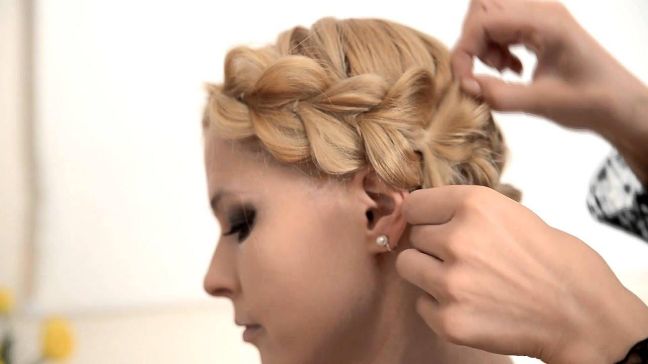 Прически на средние волосы фото с резинками