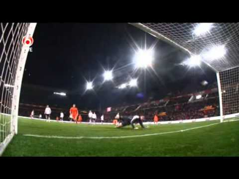 Nederland 1-0 Oostenrijk doelpunt Sneijder 9-2-2011