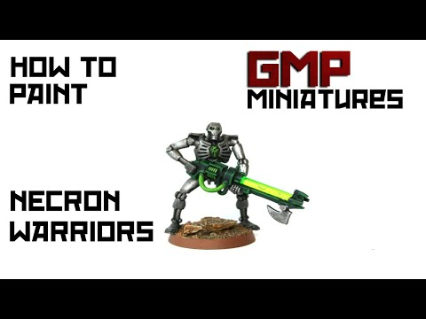 Warhammer 40k How To Paint Necron Warriors
