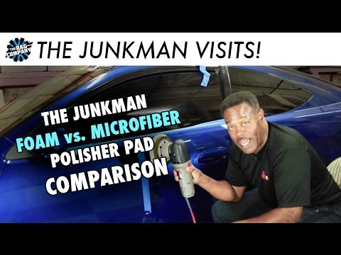 Foam vs. Microfiber Polisher Pad Comparison (w/ The Junkman)