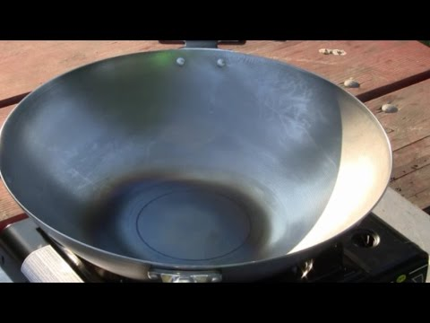How To Make Non Stick Wok  (Seasoning New Wok) Sizzle And Sear Wok