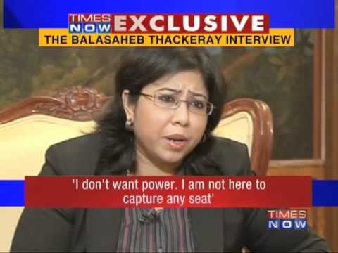 Bal Thackerays interview to TIMES NOW-1