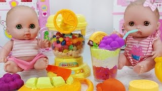 똘똘이 주스 믹서기 컬러 모래 과일 주스 만들기 장난감 놀이 - 토이몽 Baby Doll and Color Sand Mixer Fruit Juice Making Toys Play
