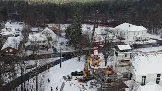 First Parish Church 02/21/2019  Preservation Timber Framing/Crane Day