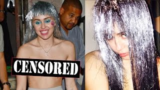 Miley Cyrus Rocks Nipple Pasties and Tinsel Wig While Out in Miami!