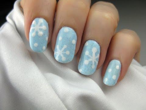 easy snowflake nail art  youtube