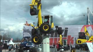 Menzi Muck all terrain excavator demonstration @ Bauma 2013