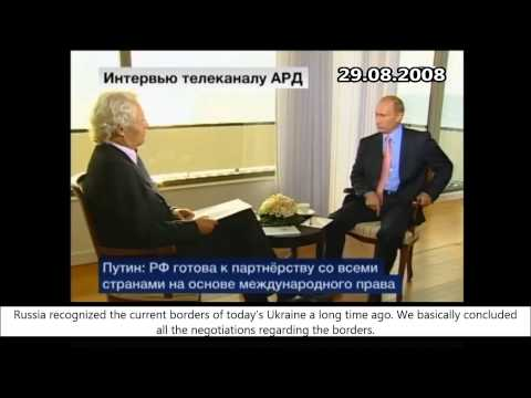 Путин про Крым и Украину / Putin about Crimea and Ukraine (2008)