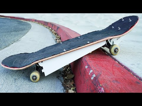 DIY SKATEBOARD BUMPERS | RIDE UP CURBS WITHOUT OLLIE!!!
