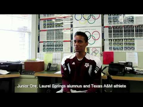 Junior Ore, Laurel Springs Alumnus and Texas A&M Athlete discusses Laurel Springs School