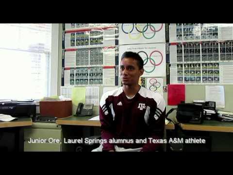 Junior Ore, Laurel Springs Alumnus and Texas A&M Athlete discusses Laurel Springs School
